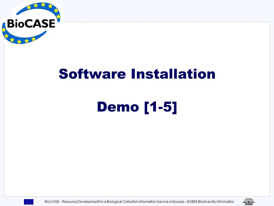 Software Installation Demo [1-5]